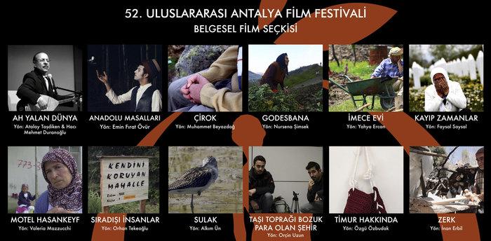 Antalya Film Festival's documentary selection