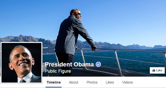 A screenshot taken from President Obama's Facebook page on Nov 9, 2015.