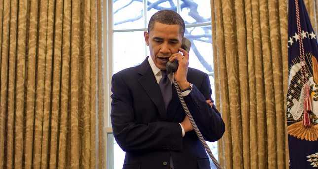 Obama calls President Erdoğan and PM Davutoğlu, discusses fight against ISIS