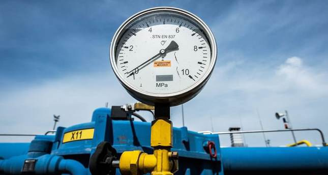 A pressure gauge at gas compressor station in the eastern Slovak town of Velke Kapusany, near the border with Ukraine, Slovakia, 02 September 2014. (EPA Photo)