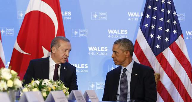 U.S. President Barack Obama listens as he hosts a bilateral meeting with Turkey's President Tayyip Erdogan during the NATO Summit at the Celtic Manor Resort in Newport, Wales September 5, 2014.  (Reuters Photo)