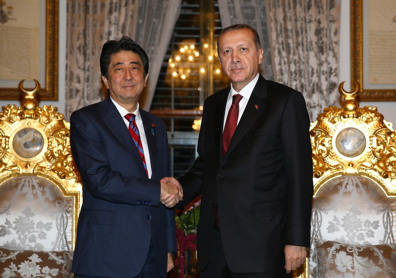 President Recep Tayyip Erdou011fan and Japanese Prime Minister Shinzo Abe came together on Friday.