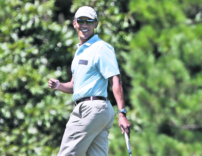 Obama to hit golf shot in Turkey's Belek
