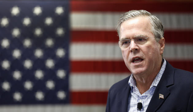 Republican presidential candidate Jeb Bush speaks during a campaign stop at the VFW, Nov. 13, 2015, in Franklin. (AP Photo)