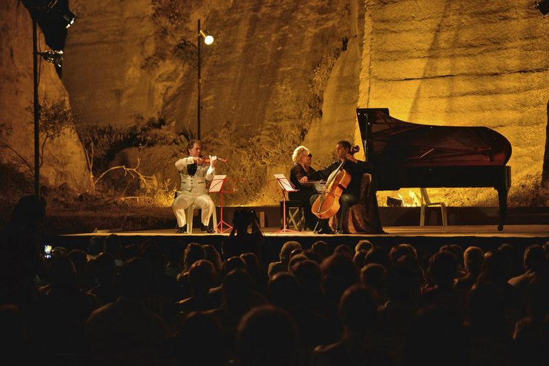Photo shows the annual classical music festival in Gu00fcmu00fcu015flu00fck, Bodrum in southwestern Turkey. (IHA Photo)