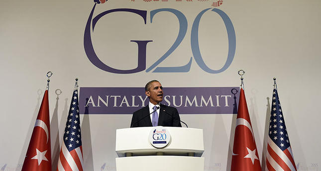 US President Barack Obama speaks during a news conference following the G-20 Summit in Antalya, Turkey, Monday, Nov. 16, 2015. (AP Photo)