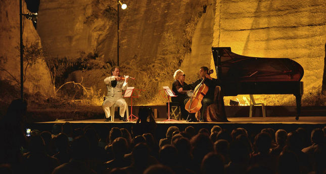 Photo shows the annual classical music festival in Gümüşlük, Bodrum in southwestern Turkey. (IHA Photo)