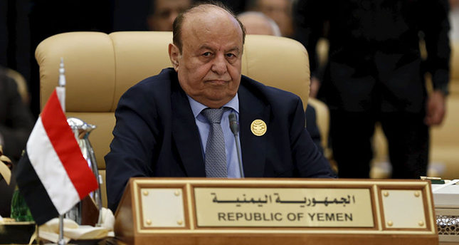 Yemen's President Hadi attends the final session of the South American-Arab Countries summit, in Riyadh Nov 11, 2015 (Reuters photo)
