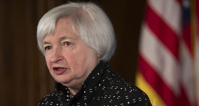 Chair of the Board of Governors of the Federal Reserve System Janet Yellen delivers opening remarks at a conference on Monetary Policy Implementation and Transmission in the Post-Crisis Period  (EPA Photo)
