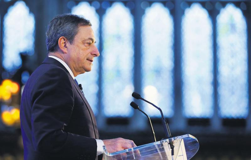 The European Central Bank President Mario Draghi