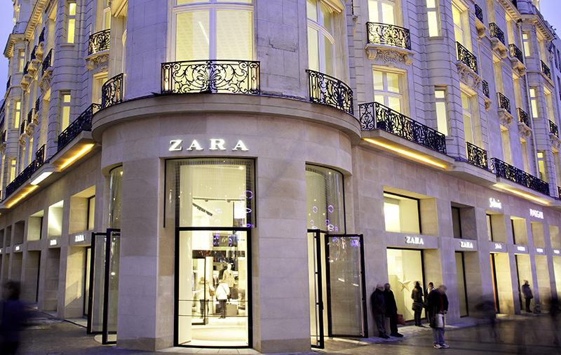 Zara store at Champs-u00c9lysu00e9es in Paris, France (Inditex website)