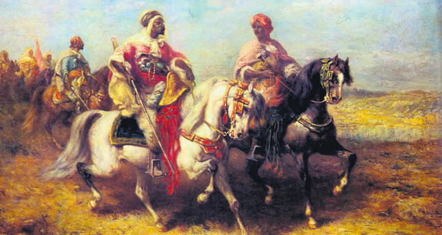 An Arab chieftain and his entourage by Adolf Schreyer
