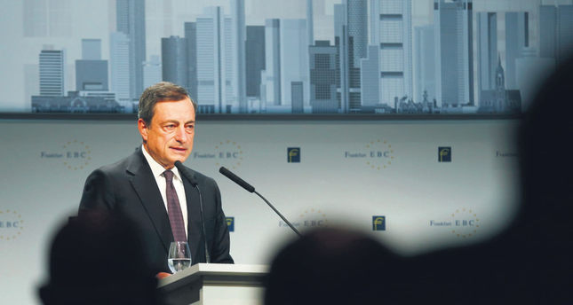 European Central Bank  (ECB) President Mario Draghi adddresses the European Banking Congress at the Old Opera house in Frankfurt.