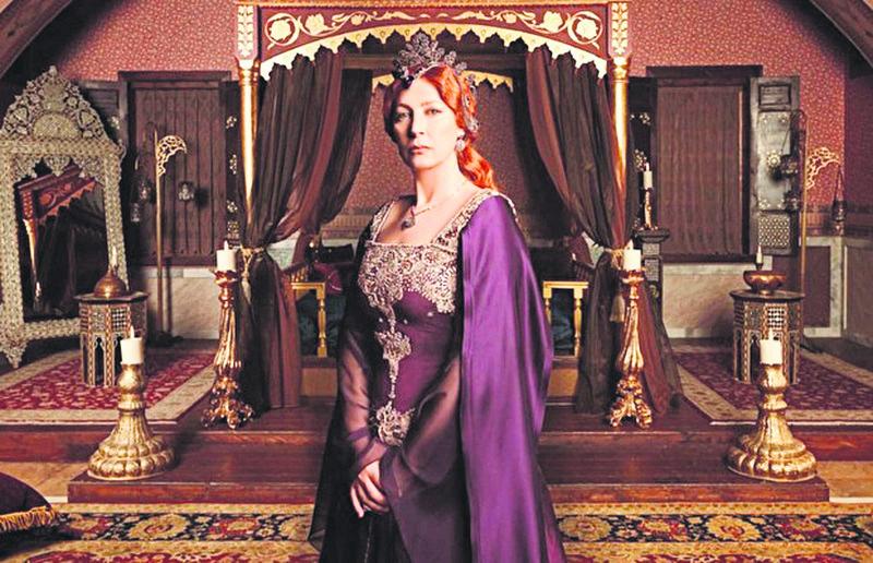 Vahide Gu00f6rdu00fcm played Hu00fcrrem Sultan in ,The Magnificent Century,