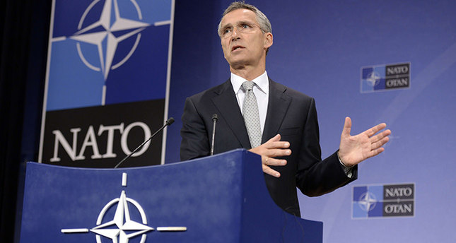 NATO Secretary General Jens Stoltenberg addresses a press conference at the NATO headquarters in Brussels, on October 6, 2015, ahead of a meeting of the alliance's defence ministers later this week.