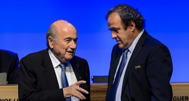 Photo shows Sepp Blatter (left) and Michel Platini.  (AFP Photo)