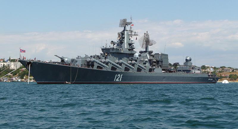 Moskva cruiser (Wikipedia image)