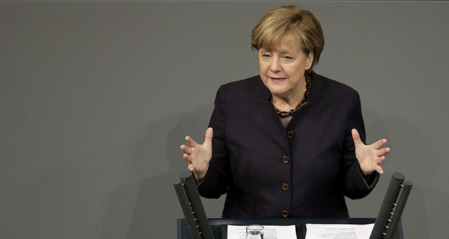 German Chancellor Angela Merkel delivers a speech during the general budget debate at the German Federal Parliament, Bundestag, in Berlin (AP Photo)