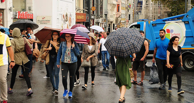 Wet days ahead as heavy rain expected throughout Turkey