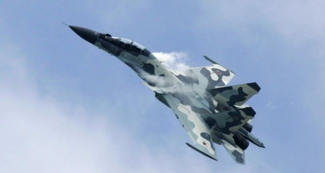 Photo shows a Russian Su-30 fighter jet. (AP Photo)