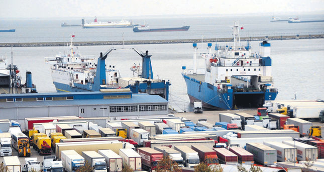 Exports to Russia make up most of the workload at the Black Sea port of Samsun in northern Turkey.