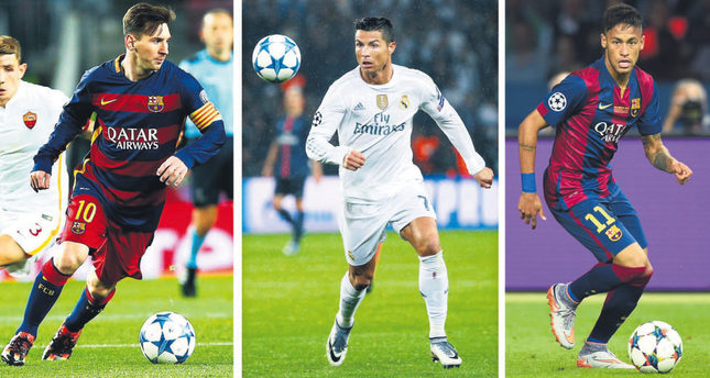 Barca's Messi, Neymar vs Real's Ronaldo on Ballon d'Or ...