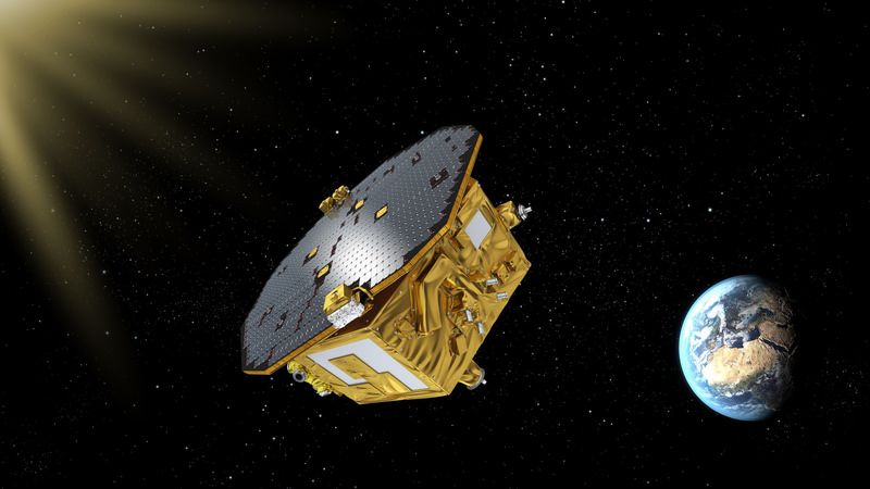 This handout image obtained from the European Space Agency on November 29, 2015 shows an artistu2019s impression of the LISA Pathfinder. (AFP Photo)