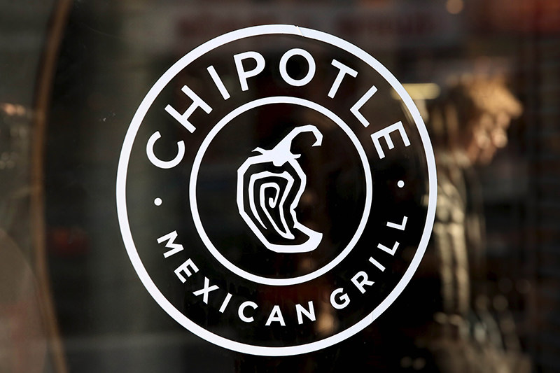 A logo of Chipotle Mexican Grill is seen on a store entrance in Manhattan, New York in this November 23, 2015 file photo (Reuters Photo)