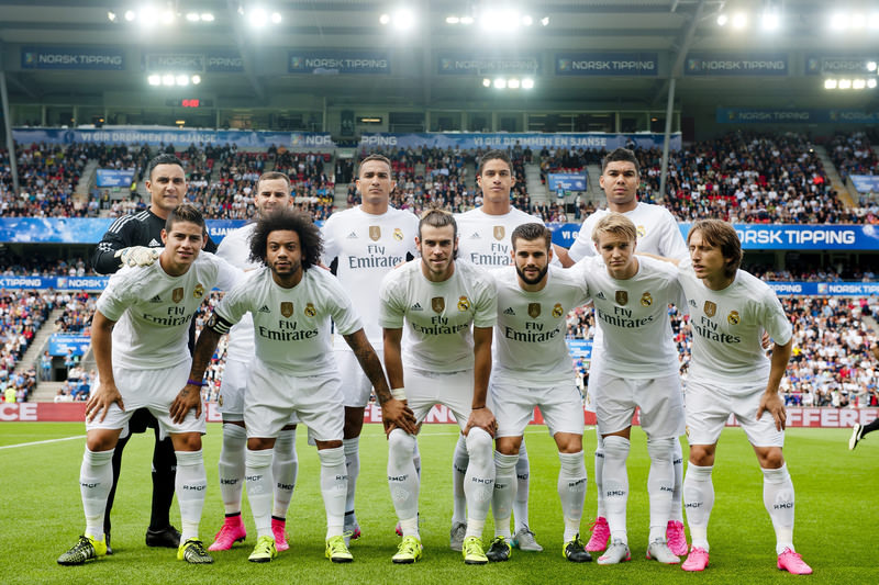 Real Madrid poses prior to the friendly soccer match with Valerenga IF, 09 August 2015. (EPA Photo)