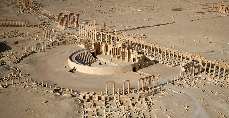 The land belonging to France is reportedly located near the ancient city of Palmyra in Syria (AFP Photo)