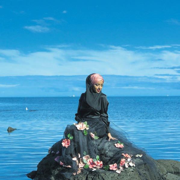 Australia-based stylist Zulfiye Tufa wearing one of her own designs, head-to-toe.