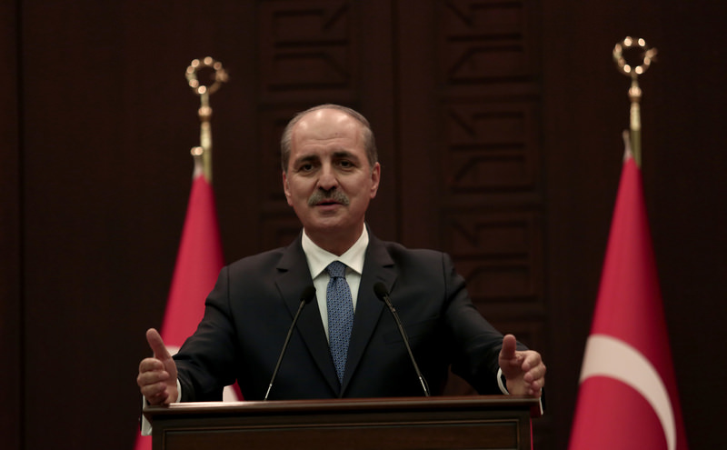Deputy PM Kurtulmus speaking at a news conference in Ankara following a Cabinet meeting Dec 7, 2015. (AA Photo)
