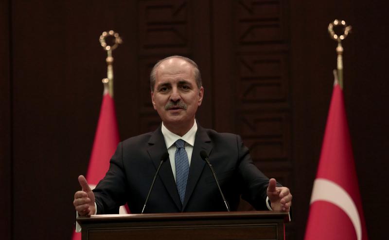Deputy PM Kurtulmus speaking at a news conference in Ankara following a Cabinet meeting Dec 7, 2015. (AA Photo)