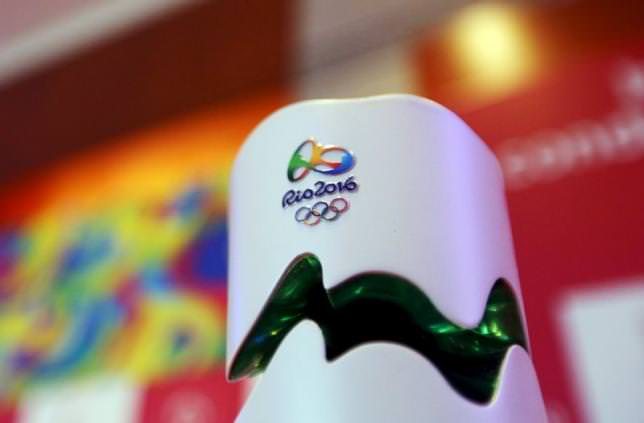 The Rio 2016 Olympic torch is seen during a National Sports Forum seminar to discuss the legacy of the games, in Brazil, Sep 9, 2015. (REUTERS Photo)