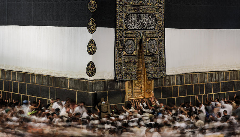 In this Monday, Sept. 21, 2015, file photo taken with a slow shutter speed, Muslim pilgrims circle the Kaaba, the cubic building at the Grand Mosque in the Muslim holy city of Mecca. (AP Photo)
