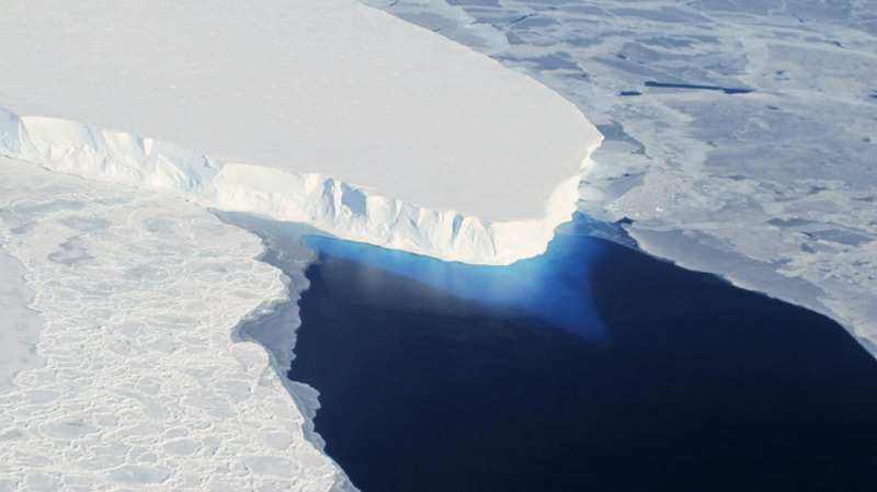The Thwaites Glacier in Antarctica is seen in this undated NASA image. (REUTERS Photo)