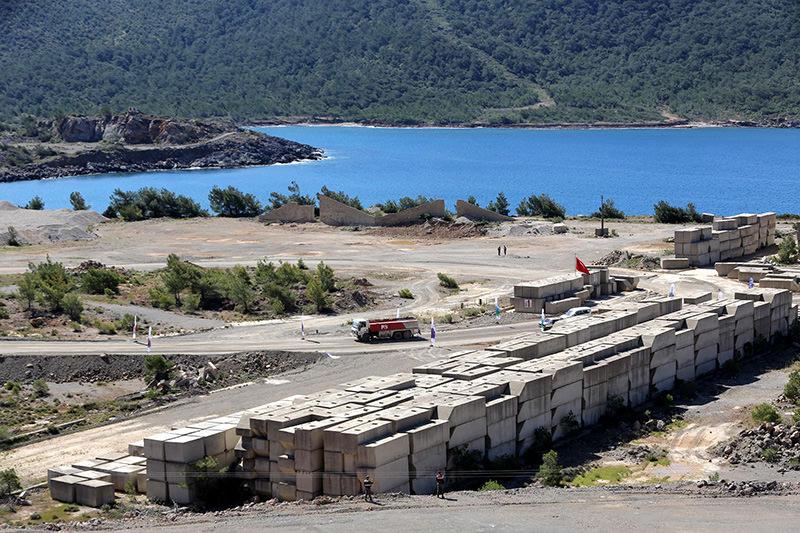 Construction site of the Akkuyu Power Plant. (DHA Photo)