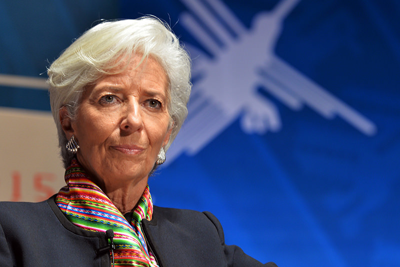 This file photo taken on Oct 8, 2015 shows IMF Managing Director during World Bank Group and IMF Annual Meetings in Lima (AFP photo)