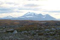 Mount Akka / Áhkká massif seen from the high plateau Maukojaureh north-east of it. (WIKIPEDIA Photo)