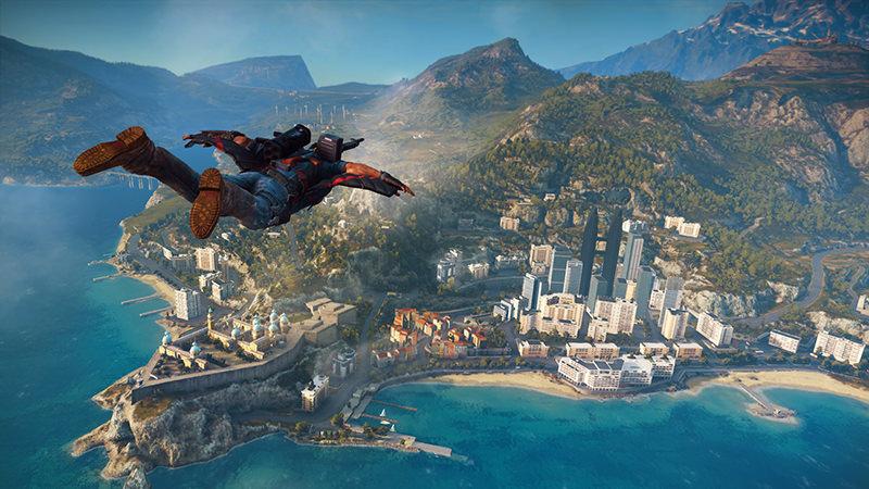 This image provided by Avalanche Studios shows a scene from the video game, ,Just Cause 3., (AP Photo)