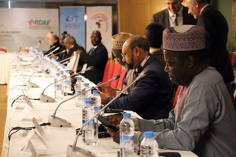 African participants in Turkish-African think tank summit in Istanbul on Dec. 19. (IHA Photo)