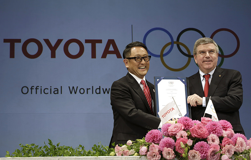 Toyoda has stepped down as vice president of the organizing committee for the 2020 Tokyo Olympics. (AP Photo)