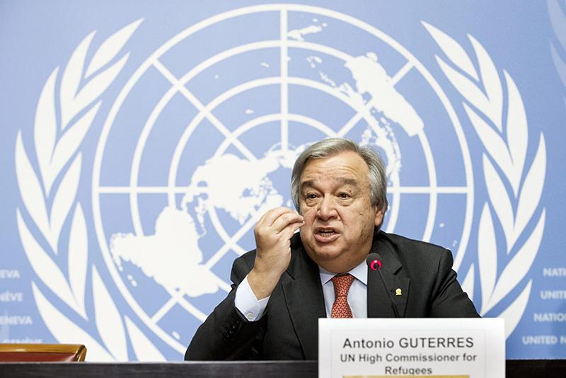 Antonio Guterres during a press conference at the European headquarters of the U.N. in Geneva, Switzerland, 18 Dec 2015. (EPA Photo)
