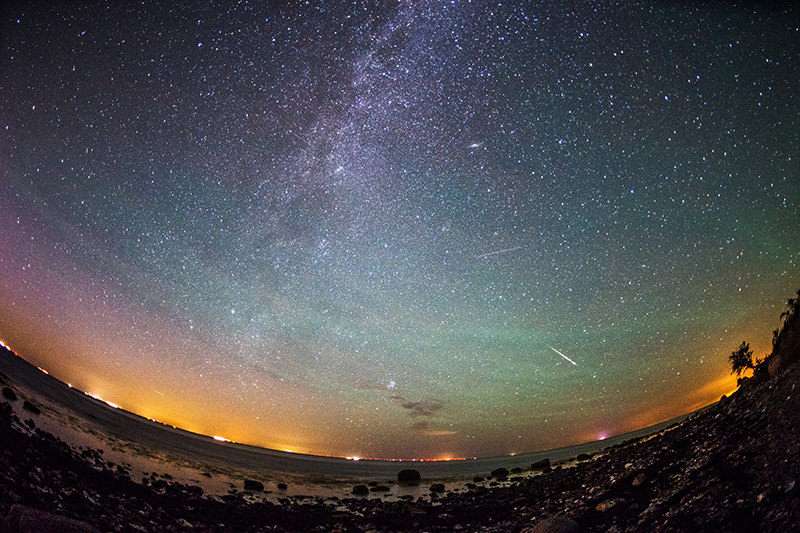 The Perseid meteor shower occurs every year in summer when the Earth passes through debris and dust of the 109P/Swift-Tuttle comet. (EPA Photo)