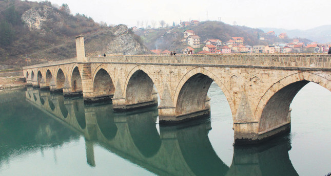 The Sokollu Mehmet Paşa Bridge straddles the Drina river and was included on UNESCO's World Heritage List in 2007.