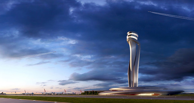 Istanbul's 3rd airport's air control tower to have tulip-inspired design