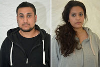 This photo provided by Thames Valley Police shows Mohammed Rehman, left and his wife Sana Ahmed Khan. (AP Photo)
