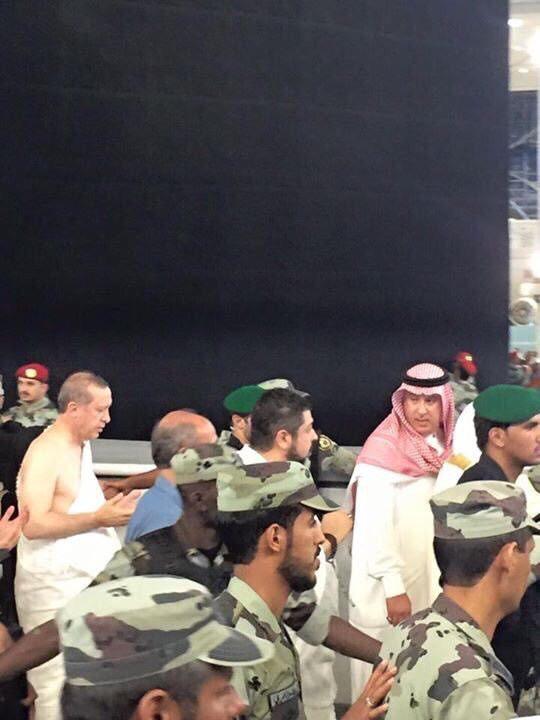 President Erdoğan performing Umrah