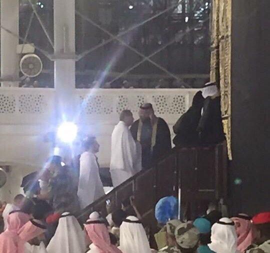President Erdoğan entering the Kaaba