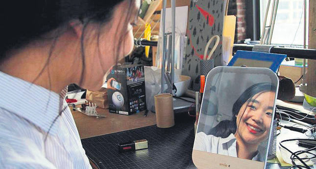 Turkish student gives cancer patients new reason to smile with mirror only reflecting smiling faces